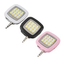 Wholesale Portable Mini Leds Lamp LED Flash IBlazr Dimmable Fill IN Light Pocket Spotlight For iPhone IOS Android Smartphone Camera Universal pc