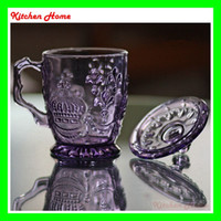 Wholesale Retro Embossed Glass Wine Cup Wine Champagne Glass cup Creative gift Creative Retro cup