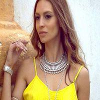 bead necklace stores - Vintage Retro Multi Beads Alloy Statement Collar Bib Pendant Necklace Jewelry Store