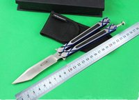Wholesale New DDR balisong folding knife outdoor survival tactical knife utility pocket fold knife C blade hand tool