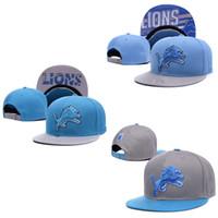 active lions - Lions Detroit Snapback Caps Adjustable Football Snap Back Hats Hip Hop Snapbacks High Quality Players Sports
