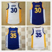 Wholesale 2016 AU Player Version Dense Embroidery Men s Kevin KD Jerseys Theme Costume Curry White Blue durant Top Quality S XL
