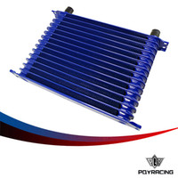 Wholesale PQY RACING BLUE UNIVERSAL ROW AN AN UNIVERSAL ENGINE TRANSMISSION OIL COOLER TRUST TYPE PQY5115 BL
