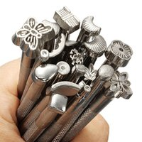 Wholesale 20 Alloy Leather Craft Stamps Set Leather Working Saddle Making Carving Tools Set DIY High Quality