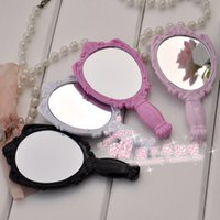 Wholesale 100pcs Retro Vintage Style Plastic Rose Women Ladies Girl Make up Mirrors Cosmetic Hand Held Mirror