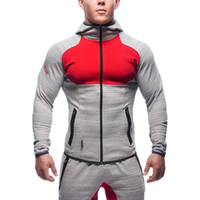 Wholesale Fall Cool Muscle Brothers Gym Mens Sport Jacket Fitness Running Brand Clothing Sweatshirt Men Gym Clothing Hoody Jackets High Quality