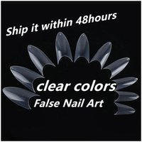 Wholesale New Fashion natural Nails Tips Pointed Fullwell Clear Color Tips DIY False Nail Art Tips c0146