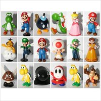 Wholesale Mini Cute Figures cm cm quot quot inch quot PVC Super Mario Bros Figurine Action Toy Doll For Kids