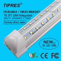 Wholesale 25 W Ft V Shaped Integrated T8 LED Tubes mm Double Sides SMD2835 led Light Bulb m AC85 V Led Lighting Lamp