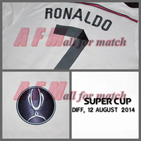 Wholesale Super Cup RM Match Worn Player Issue Shirt Jersey Long sleeves Ronaldo Soccer Football Custom Patches Sponsor