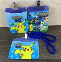 Wholesale Poke Lanyard ID Badge Card Key Holder Ring Case Pocket Neck Strap ID Badge Holder ID Card Holder Pass Case LJJK527
