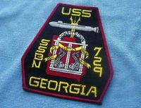 ballistic clothing - NAVY US Navy ballistic missile submarine Georgia USS GEORGIA SSBN729 badge