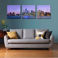 arts pictures house - LK3219 Panel Cityscape Oil Painting Sydney Opera House Landscape Oil Painting Pictures Prints On Canvas Wall Art For Home Decor Modern De