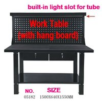 aluminum trough - BESTIR taiwan excellent quality working station with hang board and light trough MM NO