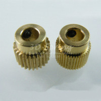 Wholesale 1Pcs Mk7 MK8 Extruder Gear Tooth Teeth Brass Drive Gear Planet Reducer Extruder Feeding Gear wheel For D Printer