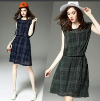 Wholesale 2016 New Women Plaid Skirt For Spring And Summer Western Style With Two Color To Choice And Superior Quality