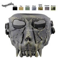Wholesale Desert Corps Mask Outdoor Face Protection Gear Airsoft Shooting Equipment Full Face Tactical Airsoft Skull Mask