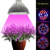 aquarium lighting system - Full Spectrum W W W AC85 V UV IR E27 LED Grow Light For Flowering Plant and Hydroponics System LED Aquarium Lamp