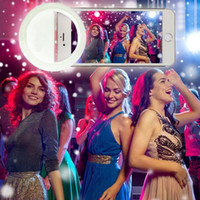 al por mayor encantos nocturnos-Universal Charm Ojos Smartphone LED Ring Selfie Luz Noche Oscuridad Selfie Mejorar Fotografía para iPhone 7 7Plus 6 6s Samsung
