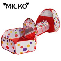 Wholesale In Kids Play Tents Pipeline Crawling Huge Tunnel Toy House for Children Outdoor Indoor Yard Playpens Ocean Stress Ball Pool