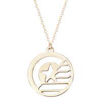 animal perfume women - Brand Jewellery STUCKY Captain America Soldier Inspired Symbol Pendant Necklace Perfume Women chain Pendant necklace women Jewelry