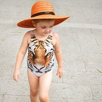 bathing suits for kids girls - 2016 Summer One Piece Kids Swimsuit Tiger Print Swimsuit for Girls Brand new Kids Swimwear Girls Bathing Suits Girls Swimwear