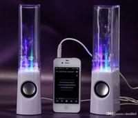 Haut-parleur d'eau de vente chaude d'eau 2 in1 Haut-parleur d'eau de mini d'USB Émission colorée d'eau-baisse montrent avec la lampe de LED Haut-parleur de danse léger