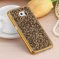 Wholesale Rhinestone Diamond Bling Electroplating Cases Luxury Hard PC Cover For IPhone S Plus S Plus S Samsung Galaxy S7 S6 Edge Note Case