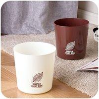 bathroom wastebasket - Household plastic trash can kitchen living room bathroom trash can office desktop wastebasket