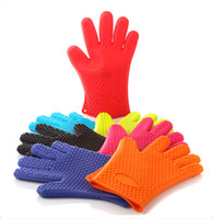 bake microwave oven - 150pcs Microwave g Silicone BBQ Gloves Insulated Kitchen Cooking Bakeware Tool Baking Heat Resistant Gloves Oven Pot Holder Oven Gloves