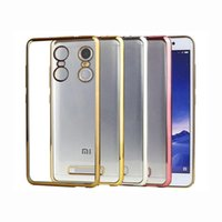 Cheap For Xiaomi Electroplating Case for Redmi 2 Best Clear Silver TPU Case for Redmi 3