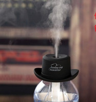Wholesale Creative USB mini humidifier cowboy hat and mineral water bottle humidifier office car aromatherapy machine bedroom
