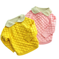 baby sweater hoodie - Toddler Girl Clothes Winter Fall Infant Baby Girl Sweater Waving Pullover Scale Cotton Top Cute Babies Sweater Hoodies for Y Pink Yellow