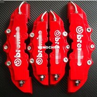 abs discs - 4pcs ABS Front Rear Disc Brake Caliper Cover With D Brembo Universal Kit