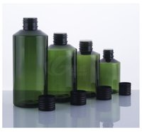 alumina screws - Capacity ML35pcs Blackish green inclined shoulder alumina black cap bottles aluminum bottles