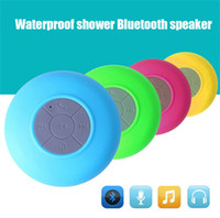 audio types - Portable Subwoofer Shower Waterproof Wireless Bluetooth Speaker Car Handsfree Receive Call Music Suction Mic For all type phones