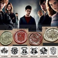Wholesale 6 style Vintage Creative Wax Seal Stamp Harry Potter Hogwarts Single stamp set personal DIY stamp School Supplies nice stamp gift M380