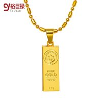 australian jewelry - 2016 New Design Australian Hot Sale K Gold Plating Bullion Pendants Necklace Jewelry HipHop ChainsTrendy Bullion Necklaces Unisex