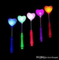 Livraison gratuite 400PCS / Lot LED bâton clignotant rose coeur étoile clignotante mousse légère bâton 0420qqzq