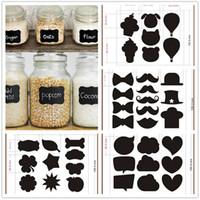 wall tile - Lovely color black fancy mason jar wedding chalkboard labels wine glass drink cup label diy reception decoration idea