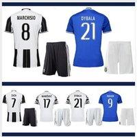 Wholesale New Product Uniforms Kit Youth Kids Juventus Soccer Jersey MARCHISIO MORAT DYBALA Higuain RD Third Away White Jerseys