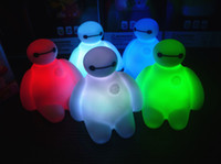 automatic night switch - automatic color changing big hero baymax night light colors mini luminous LED night lamp Comic and Animation toys gifts for children kids