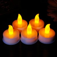 electronic candle - 100pcs Remote Control Flameless Yellow Flickering Light LED Candles Romantic Birthday Holiday Party Luminous Electronic Candles