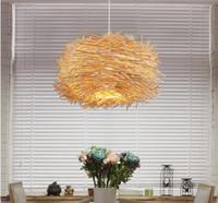 balcony deco - EMS Creative country pendant light Cany bird s bar bedroom balcony droplight study lamp