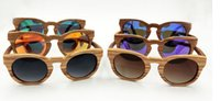 Wholesale High Quality full frame zebra wood Sunglasses Unisex Vintage Handmade Wooden Sports Sunglass