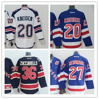 Wholesale NHL New York Rangers Chris Kreider Mats Zuccarello Blank American Premier Hockey Jerseys Ice Winter Home Away Jersey Stitched Men