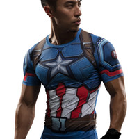 civil war clothing - T Shirt Captain America Civil War Tee D Printed T shirts Men Marvel Avengers iron man Fitness Gym Clothing Male Crossfit Tops