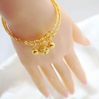 bell gram - S990 silver bracelet ring bell mouth Korean fashion plating gold bracelet Ms Ervin weighs grams of gold