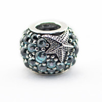 best love flowers - Beads Fits for pandora Snake chain bracelets necklace sterling silver beads Oceanic Starfish Charm best gift NEW summer