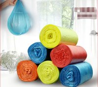 Wholesale 5 rolls of high quality thick color garbage bags kitchen toilet household garbage bags four colors optional